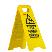 JORESTECH® Caution Wet Floor- Folding Safety Sign Slippery Warning Bright 2 Sided
