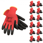 JORESTECH® Palm Dipped Polyurethane Coated Knit Work Gloves PPE Hand Protection. 12 Pack (S-GD-02)