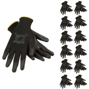 JORESTECH®  Ultra-Thin Palm Dipped Latex Coated Knit Work Gloves PPE Hand Protection. 12 Pack (S-GD-06)