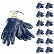 JORESTECH® Fully Dipped Nitrile Coated Knit Work Gloves PPE Hand Protection. 12 Pack (S-GD-05)
