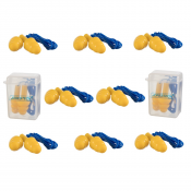 Tri-Flange Silicone EarPlug With Cord
