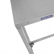 JORESTECH®Stainless Steel 304 Work Table Commercial Open Base Design with Removable Breaking Casters Machine Base (E-Table S/S)