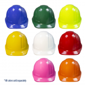 PPE By ​JORESTECH®​ - HDPE Cap Style Hard Hat Helmet w/ Adjustable Ratchet Suspension For Work, Home, and General Headwear Protection
