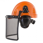 PPE By ​JORESTECH®​ - HDPE Cap Style Hard Hat Helmet w/ Adjustable Ratchet Suspension plus earmuff S-EM-504  (S-HHAT-01-OKIT)