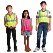 "JORESTECH® Non ANSI Prismatic 1"" Tape 100% Polyester Mesh Safety Vest for Children (S-VL-08)"