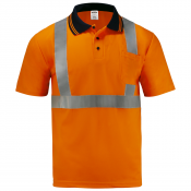 Short Sleeve Safety Polo Shirt Orange model S-PS-02 by JORESTECH®
