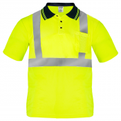 Short Sleeve Safety Shirt lime / yellow model S-PS-02 by JORESTECH®