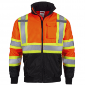 Safety Bomber Orange Jacket X in Back Type R / CSA Z96 - (Model JK-06-OR) by JORESTECH®