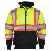 Safety Bomber Yellow Jacket X in Back Type R / CSA Z96 - (Model JK-06-OR) by JORESTECH®