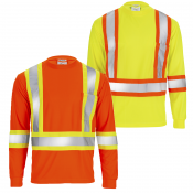 High Visibility Reflective Safety Two-Toned Long Sleeve Shirt Model TS-15​ by JORESTECH®