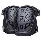 Protective Knee Pads - Gel Filled with Heady Duty Shell Caps for Work and PPE – (Model S-KP-02-BK)