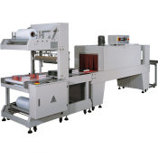 Automatic Sleeve Wrapping System with Tunnel and Conveyor Feeders