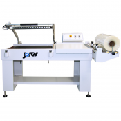 "Shrink Wrap L Bar Sealer machine with Conveyor - 30"" x 21"" - model L-7555 by JORESTECH®"