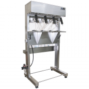 SEMIAUTOMATIC 4 NOZZLE OVERFLOW LIQUID FILLER