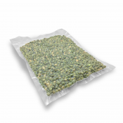 """Embossed Commercial Grade Vacuum Bags 6"""" x 10"""" - 100 Units (C-VAC-06x10-EM) - With Products"""