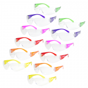 JORESTECH™ UV 400,  Anti Scratch Colored Temple, Frameless, Meets ANSI Z87+ Standards, Eye Protection. Pack of 12 Units (S-LSC260 CASE)