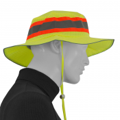 JORESTECH® High Visibility Lime-Yellow Safety Giggle - Boonie - Ranger Hat