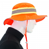 JORESTECH® High Visibility Orange Safety Giggle - Boonie - Ranger Hat