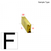 Type Letter (F)