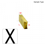 Type Letter (X)