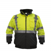 JORESTECH® Class 3 level 2 Yellow Safety Bomber Jacket with Detachable Hood (S-JK-02Y)