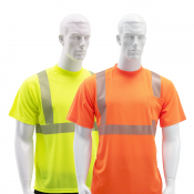 JORESTECH® Short Sleeve Safety T-Shirt with Heat Transferred Tapes - One Pocket (S-TSL-03-11)