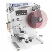 JORESTECH® E-OMICRON-130 SEMI AUTOMATIC LABELER MACHINE (E-OMICRON-130 SEMI ROUND)