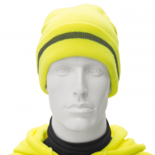 JORESTECH® High Visibility Fluorescent Yellow Reflective Knit Beanie Hat