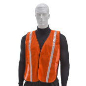"Non ANSI Prismatic 1"" Tape 100% Polyester Mesh Safety Vest (S-VL-01) Main"