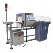 METAL DETECTOR JORESTECH® MD-350 Integrated Conveyor and Reject System for Food and Inspection Applications.
