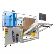 Automatic Corrugated Carton Box Industrial Forming Case Erector and Bottom Tape Sealer Machine End of Line by JORESTECH® (E-CE-40)