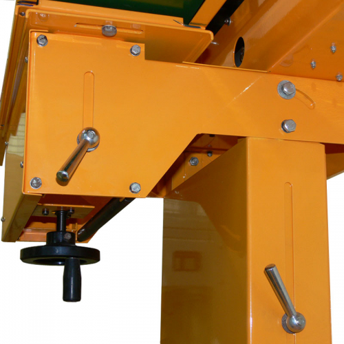 Angle and height adjustable base and conveyor