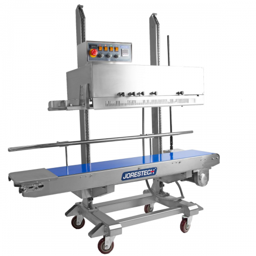 Continuous Band Sealer Digital Stainless Steel Left to Right with Coder and Counter Model CBS-1010I-L-R by JORESTECH®