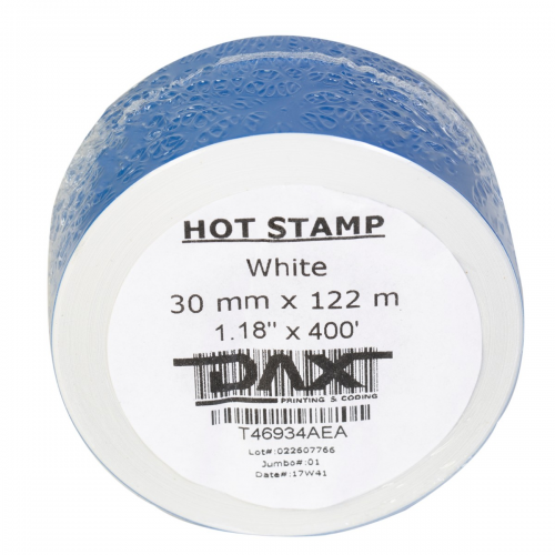 Dax Printing White Color Hot Stamping Foil (30mm x 122m)
