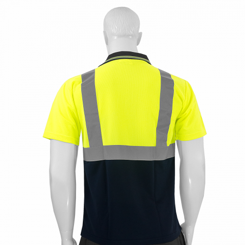 JORESTECH® ANSI/ISEA 107-2015 Type R Class 2 Short Sleeve Safety Polo Shirt One Pocket (S-PSL-01) - Back View