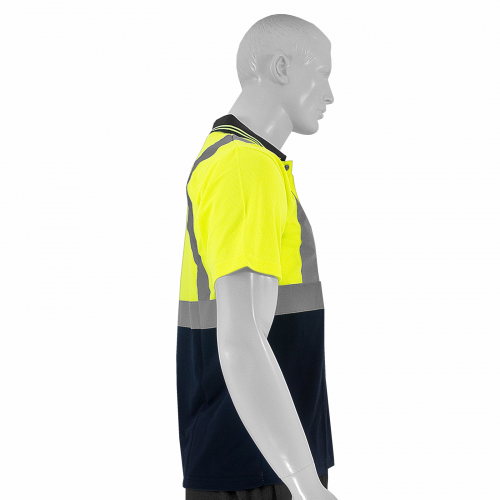 JORESTECH® ANSI/ISEA 107-2015 Type R Class 2 Short Sleeve Safety Polo Shirt One Pocket (S-PSL-01) - Side View
