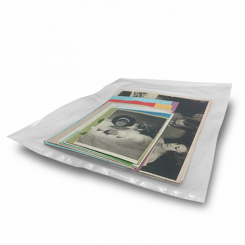 "Embossed Commercial Grade Vacuum Bags 8"" x 12"" - 100 Units (C-VAC-08x12-EM) - With Product 2"