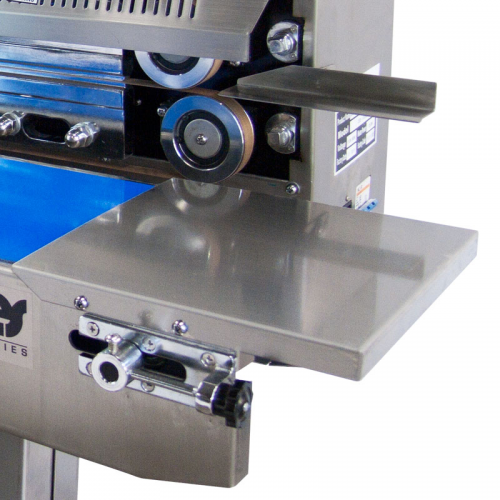 Digital Stainless Steel Horizontal Continuous Band Sealer with Counter (E-CBS-1000CIN) Conveyor entrance