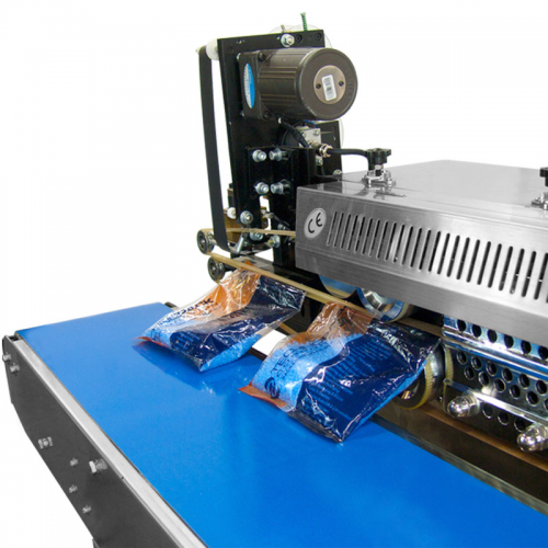 Digital Stainless Steel Horizontal Continuous Band Sealer with Counter (E-CBS-1000CIN) Sealing action