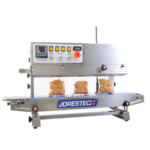 JORESTECH® Digital Stainless-Steel Continuous Band Sealer with Dual-Orientation System - Left to Right (E-CBS-800I LF-RG)