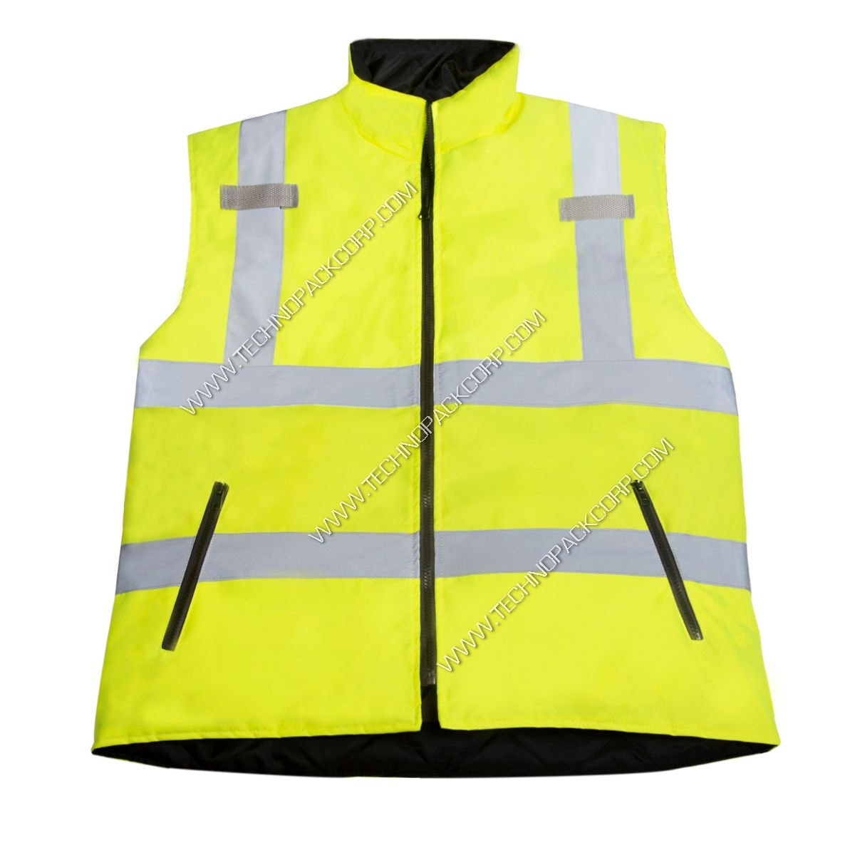 65ef91d252db JORESTECH® High Vis Reversible Insulated Safety Vest with ANSI Compliant Reflective  Tape Body-warmer